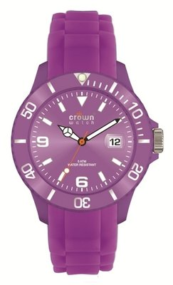 Crown Watch Purple 43mm