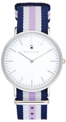 Black Oak Velutina blue white purple 36 mm horloge