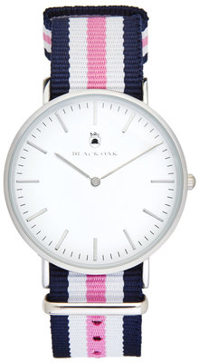 Black Oak Velutino blue white pink 40 mm horloge