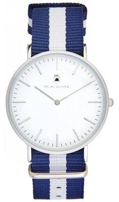 Black Oak Velutino blue white 40 mm horloge