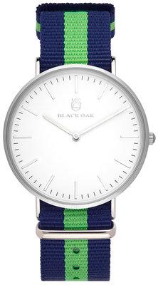 Black Oak Velutino blue green 40 mm horloge