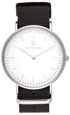 Black Oak Velutina black nato 36 mm horloge