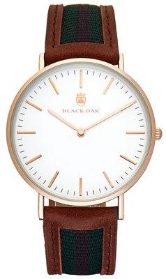 Black Oak Sailor brown green red 40 mm horloge
