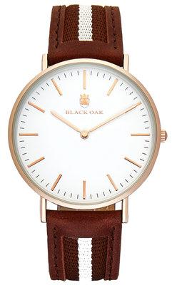 Black Oak Sailor brown white 40 mm horloge