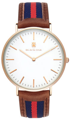 Black Oak Sailor brown blue red 40 mm horloge