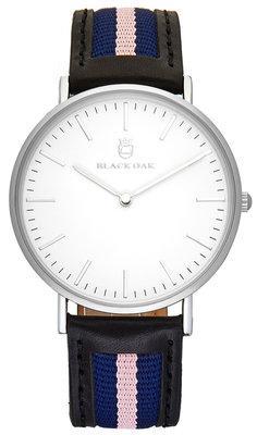 Black Oak Sailor black blue pink 40 mm horloge