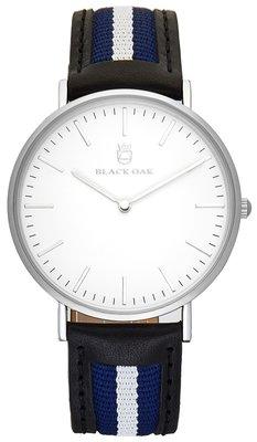 Black Oak Sailor black blue white 40 mm horloge