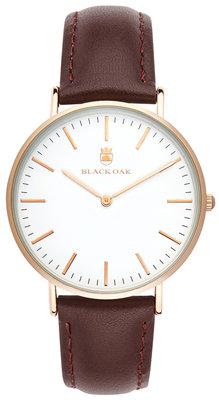 Black Oak Velutina chocolate 36 mm horloge
