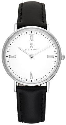Black Oak Martinez black silver 36 mm horloge