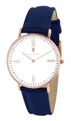 Black Oak Martinez blue white 36 mm horloge