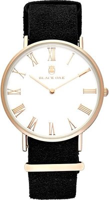 Black Oak Havard II white 40 mm horloge