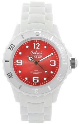 Colori Watch Bright White Red