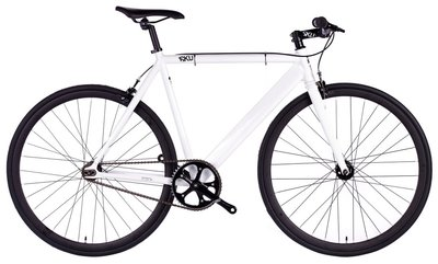 6KU Track White 55 cm fixed gear bike