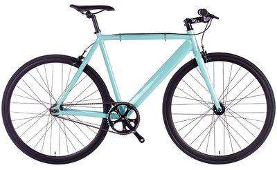 6KU Track Celeste 55 cm fixed gear bike