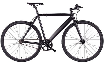 6KU Track Black 55 cm fixed gear bike
