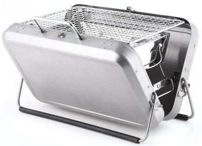 Kikkerland Briefcase houtskool barbecue