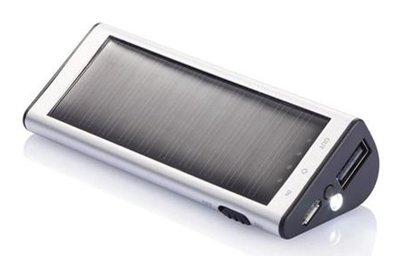 Loooqs Solar 2200 mAh zilver powerbank