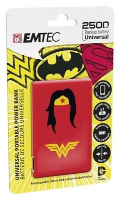 Emtec 2500 mAh powerbank wonderwoman