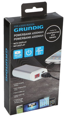 Grundig 4000 mAh Digital powerbank