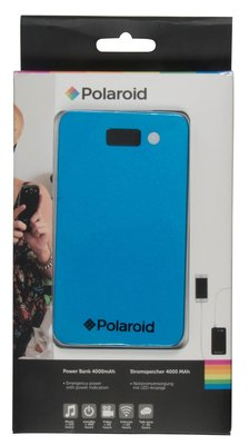 Polaroid 4000 mAh powerbank blauw