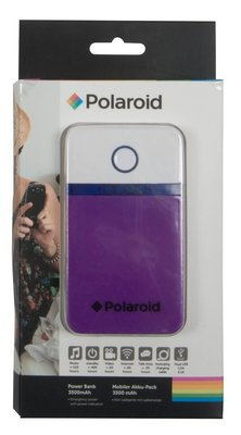 Polaroid 3500 mAh powerbank paars