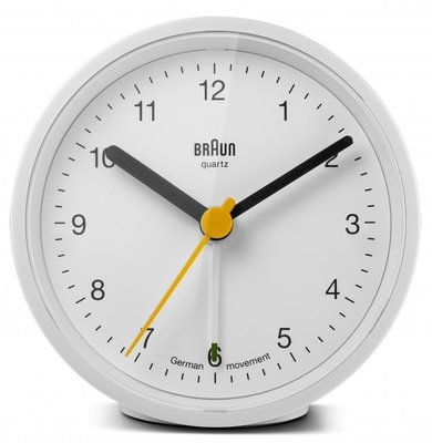Braun BNC012 wit 8 cm wekker