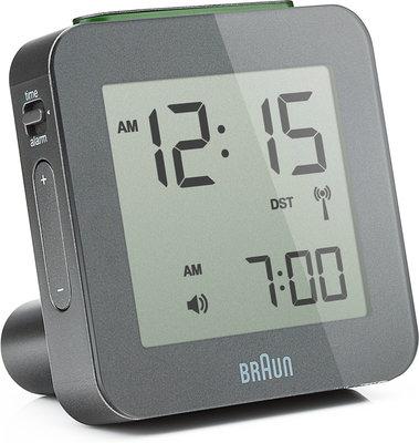 Braun BNC009 grijs 8 cm radiogestuurde wekker