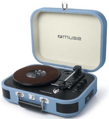 Muse MT-201 BTB blauw platenspeler