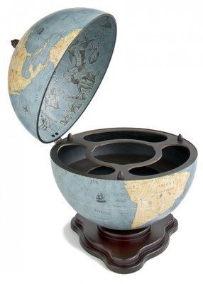 Universal Galileo Blue Dust Desk barglobe