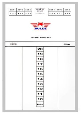 Bull's Glass Large scorebord in aluminium lijst