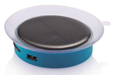 XD Design Port blauw 1000 mAh Solar powerbank