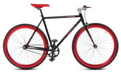 Troy Speed black red 54 cm fixed gear bike