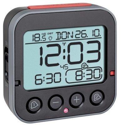 TFA Bingo 2.0 zwart/rood 9 cm radiogestuurde wekker