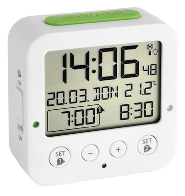 TFA Bingo wit 8 cm radiogestuurde wekker
