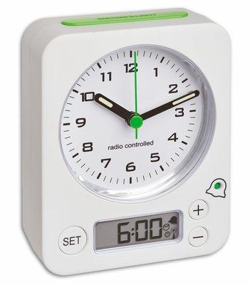 TFA Combo wit 9 cm radiogestuurde wekker