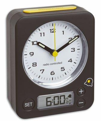 TFA Combo zwart/geel 9 cm radiogestuurde wekker