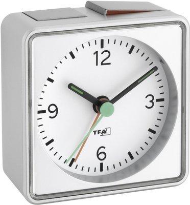TFA Push zilver 7 cm wekker