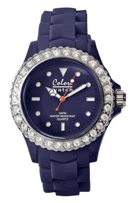 Colori Watch Crystal Navy Blue