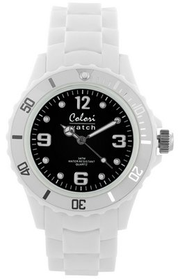 Colori Watch Bright White Black