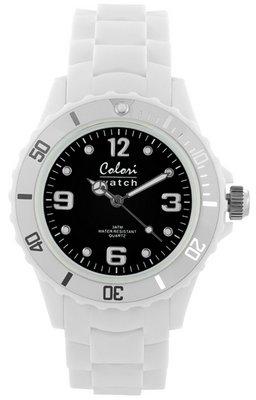 Colori Watch Bright White Black