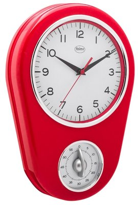 Balance Time Kitchen Hero rood 31 cm klok