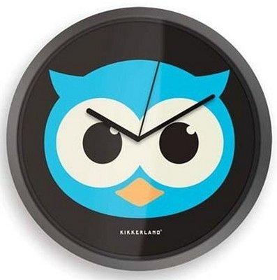 Kikkerland Owl 20 cm klok