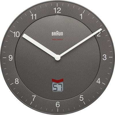 Braun BNC006 grijs 20 cm radiogestuurde klok