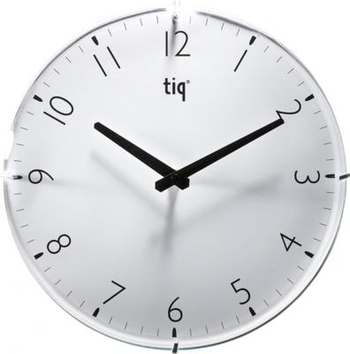 Tiq Circle Glass wit 30 cm klok