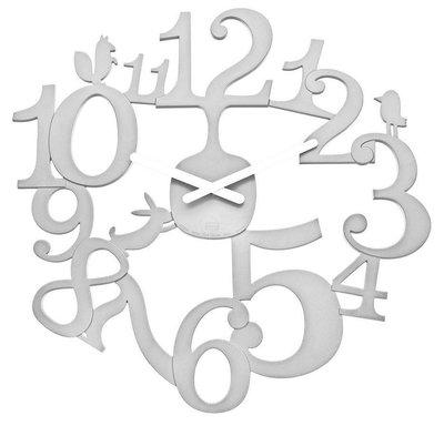 Koziol PI:P solid white 45 cm klok