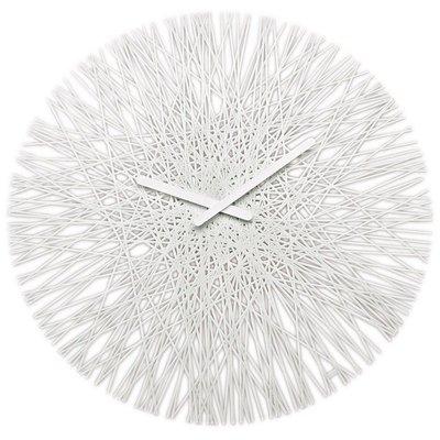 Koziol Silk solid white 45 cm klok