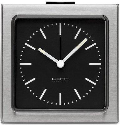LEFF Amsterdam Block Black Steel 8.5 cm klok
