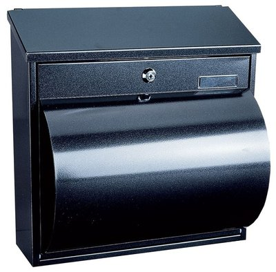 Rottner Tresor Wallersee zwart brievenbus