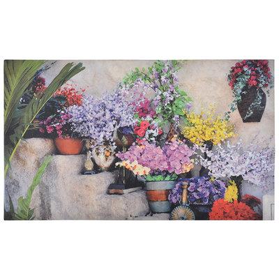 Esschert Design Bloemen op trap deurmat