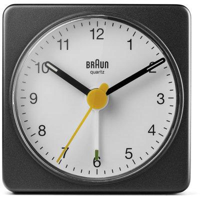 Braun BC02BW zwart/wit 6 cm wekker